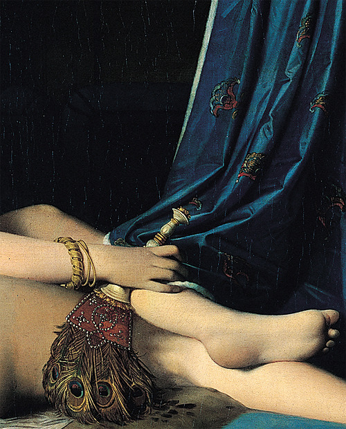 hazeltons:  Detail of Jean Auguste Dominique Ingres's La Grande Odalisque (1814).