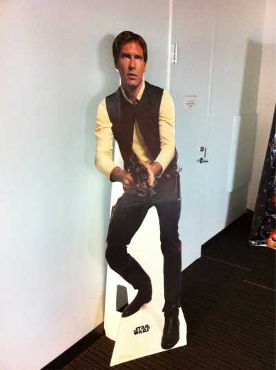 Anything more badass than turning the corner at your office and seeing Han Solo? (@engauge rocks)