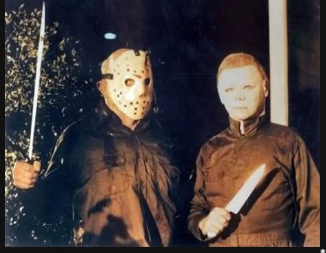 "Michael drops in on the filming of ""Friday The 13th: Part 4 The Final Chapter"