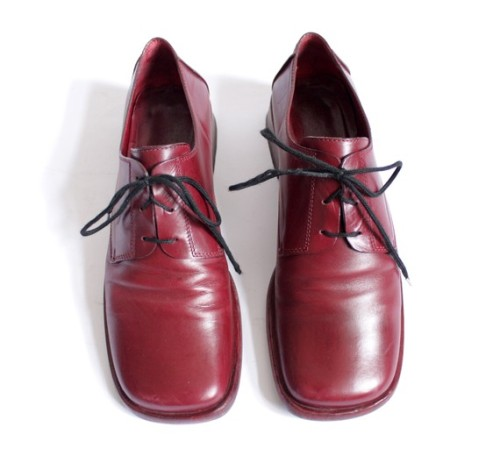 Vintage Red Leather Oxfords by nemres on Etsy
