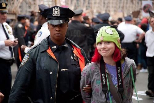 fuckyeahmarxismleninism:  New York City: Police arrest Occupy Wall Street protesters on the Brooklyn Bridge, October 1, 2011. Photo by Adrian Kinloch