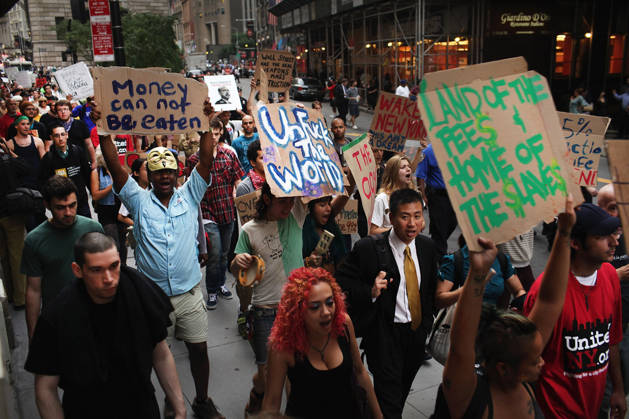(via Occupy Wall Street - Alan Taylor - In Focus - The Atlantic) Click through for a collection of images from Occupy Wall Street on theatlantic.com.