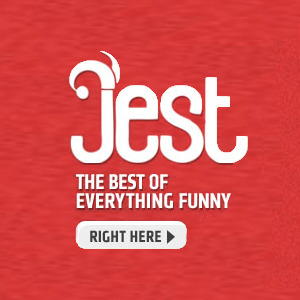 "collegehumor:  Meet Jest!  Hey guys, we're excited to announce that after months of planning in our top secret lair, we've just launched a brand new, big sister site called ""Jest."" Jest is your new source the best of everything funny on the web: TV episodes, stand up, original videos, sketch comedy, parodies, music videos, pranks, bloopers, and more. Everything from your favorite episodes of Louie to Rick Perry's Bad Lip Reading. Click to check it out!  We made a new Web site. I hope you like it."