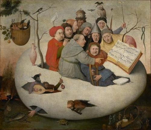 themaddestbird:   Hieronymus Bosch - Concert in the Egg