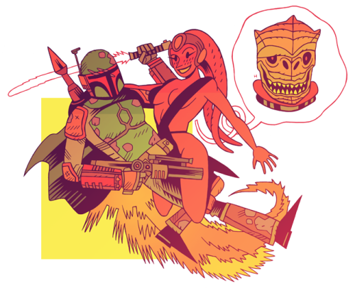 svalts:  Like a Bossk - by Dan Hipp  Flickr | Tumblr | Twitter (Via: mrhipp)