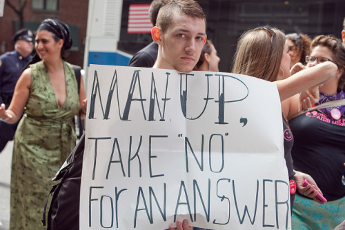 "brooklynmutt:  Man Up, Take ""No"" For An Answer: SlutWalk NYC, 2011 by Lindsay Beyerstein on Flickr."