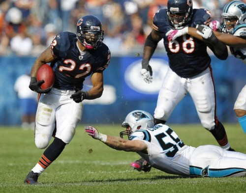 Now that's more like it! The Bears beat Killer Cam Newton and the Panthers 34-29. Chicago goes to 2-2 on the season with a BIG Monday Night Football matchup against the undefeated (I know, right?) Detroit Lions on deck.  Here's more pics from yesterday's win.