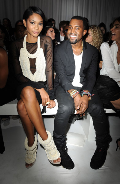 Chanel Iman X Kanye West X Givenchy show X Fashion Week X Paris