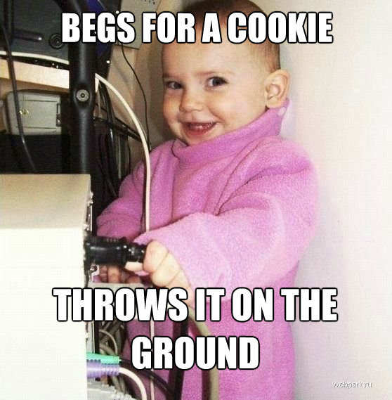 toocooltobehipster:  Cookie waster!