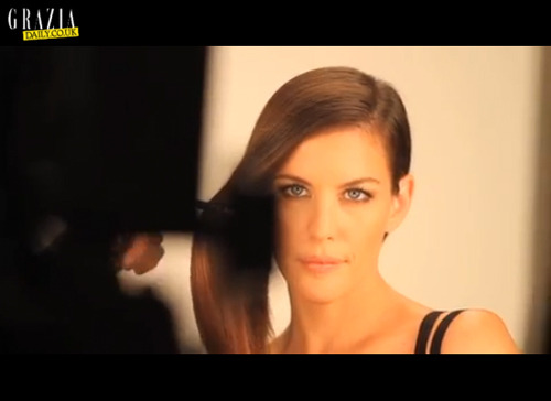 Watch a nice behind-the-scene clip of Liv's Commercial for Pantene @ GraziaDaily