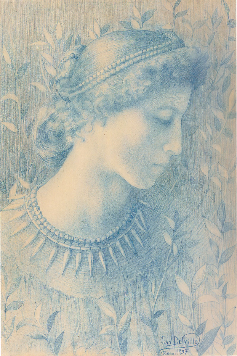 Jean Delville, Head of a Woman