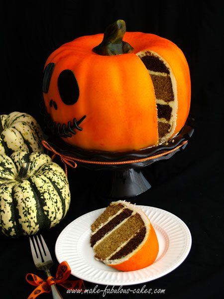 thecakebar:  PUMPKIN CAKE RECIPE! Holy Moses! What a great Halloween cake. The link includes great pictures on how they spray painted the cake! (yes, spayed it like gRafFiTi aRt!) YUM!!! Enjoy! INGREDIENTS 4 large eggs 1 cup vegetable oil 2 cups pumpkin puree 1 tsp. vanilla 3 cups granulated sugar 3 1/4 cups cake flour 1 tsp. baking powder 1 tsp. baking soda 1/2 tsp. salt 1 tsp. cinnamon METHOD Preheat the oven to 350°F and brush bundt cake with oil. Mix the eggs, oil, pumpkin puree and vanilla together. Add in the sugar until well blended. Add the cake flour, baking powder, baking soda, salt and cinnamon and mix it for about 2 minutes. Pour batter in prepared bundt cake pan and bake for approx. 45 minutes to an hour. The cake is ready when an inserted wooden skewer or cake tester comes out clean or when cake springs back when lightly pressed with a finger. Let the cake cool in pan for about 10 minutes. Loosen the sides with a knife or metal spatula and invert to a metal rack. (via Pumpkin Cake) ~~~~~~~~~~~~~~~~~~~~~~~~~~~~~~ Help section: Airbrush technique video help! Need more help? contact me @thecakebar I love to help!