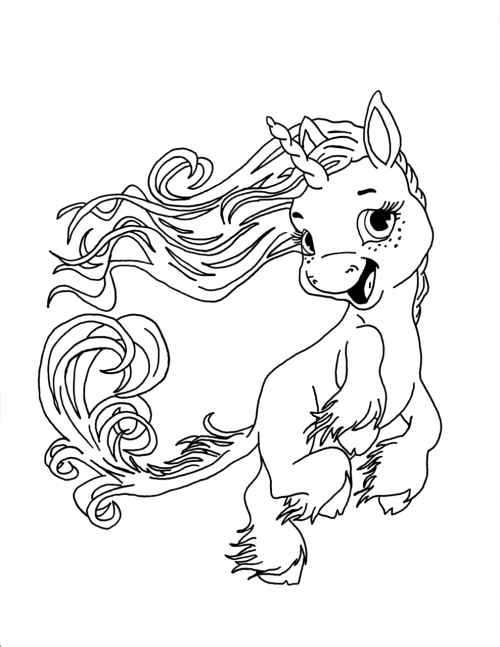 elfinpen:  Last in a series of elemental unicorn coloring sheets I made from a friend's art.  SKY - my personal favorite.  Check out the original art or join the coloring contest!