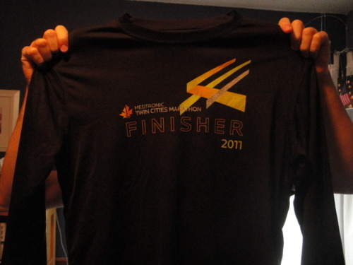 My finisher tee!