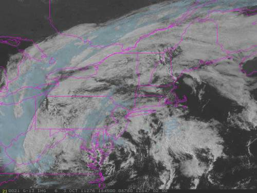 Occluded mid-latitude cyclone over new england.