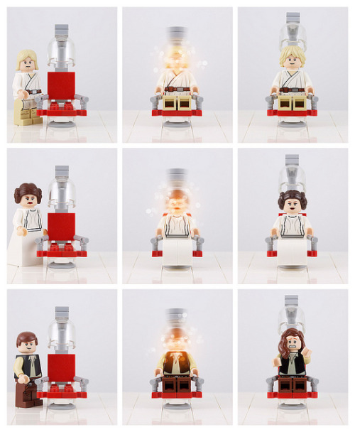 Hairs Got Did on Flickr.Lego's latest Millenium Falcon set includes updated versions of Luke, Leia and Han. Unfortunately, Han's update is a bit less impressive than the others.