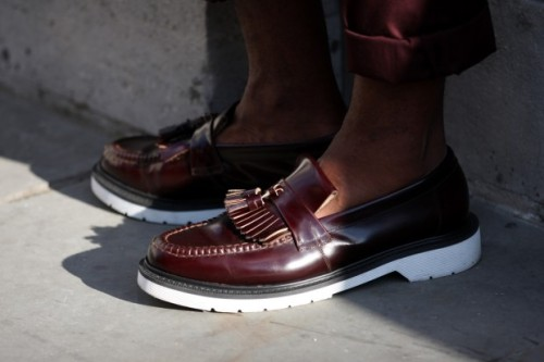 urbanemenswear: A great modern tasseled loafer at London Fashion Week