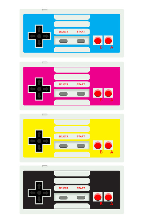 insanelygaming:  CMYK Retro Gamer - by AWOwens Available on Society6