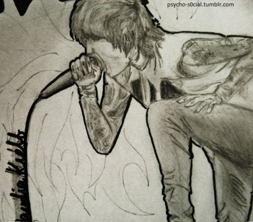psycho-s0cial:  k this is oliver sykes, and I drew this like last year so it's not super great
