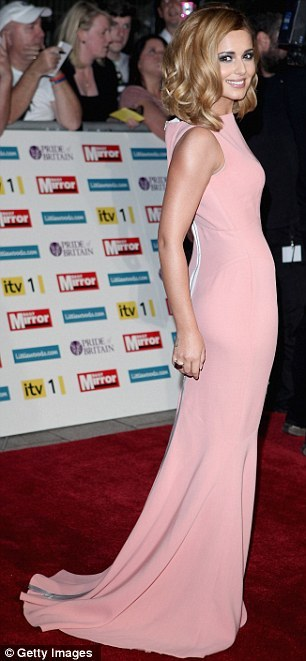 Gorgeous pale pink #Victoriabeckham dress on Cheryl Cole