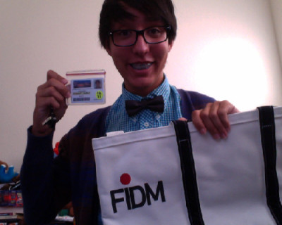 jamesgarcia:  FIDM id and tote bag :3