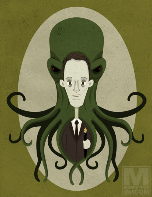 A classic lurking Cthulhu, but I really love the artwork on this. It'd be a good poster/book cover/something.