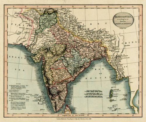 cartographymaps:  John Cary, 1816, India