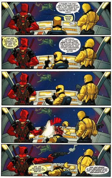 sierrahouk:  And this is why Deadpool is awesome.  Dear god, i need to start reading Deadpool again, stopped at issue #23!