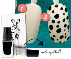 Check out my DIY guide to Dalmatian print for the hottest AW11 nails