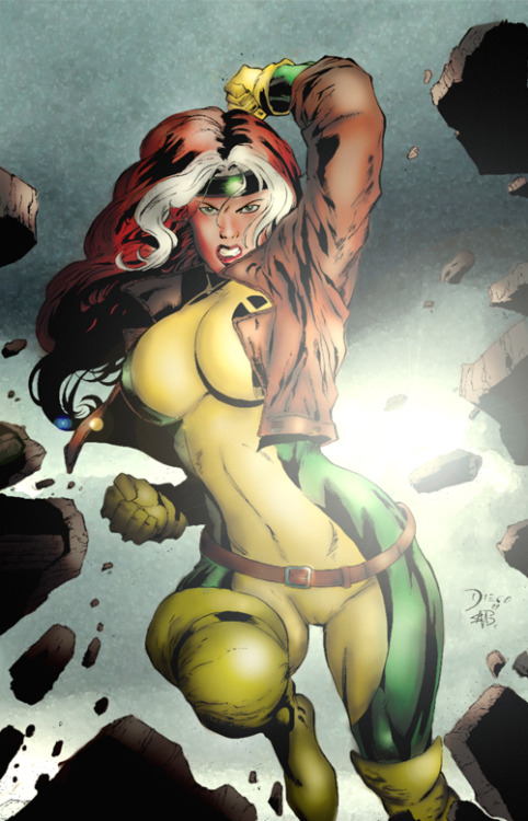 comicsforever:  Rogue // artwork by Diego Bernard and Kerem Bilek (2011)