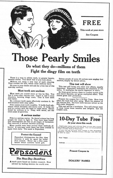 wordfromoursponsor:  Teeth are pearls. Thank goodness.  Remember most teeth are unclean.