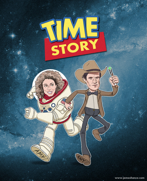 Latest Doodle: 'Time Story' (Doctor Who / Toy Story) T-shirts and prints available from tomorrow :) This one took such a long time but I loved every minute and I appreciate your kind words as always - thank you! x http://www.jameshance.com