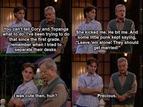 love LOL Boy Meets World Cory and Topanga mr. feeny topanga ...