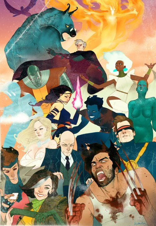 rebellatrix:  lulubonanza:  Drawn By Kevin Wada  Well, how can I honestly resist this? Touche, Kevin Wada. I will reblog all of your things.  Well this is pretty fabulous. I like how each of them has a completely different body language, it gives each character a distinct voice.