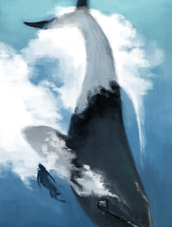 lalage:  Based on underwater photographs of southern right whales by Brian Skerry Google and watch Skerry's TED talk if you have the time. His message is something you are probably already aware of (we're fishing the hell out of our seas, coastal development is destroying spawning areas, yet protected marine ecosystems are able to recover spectacularly well within a human lifetime), but even if those facts are old to you, his presentation and photography are very powerful.
