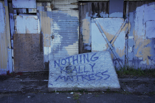 Nothing really mattress. (Cracks me up, never fails.)