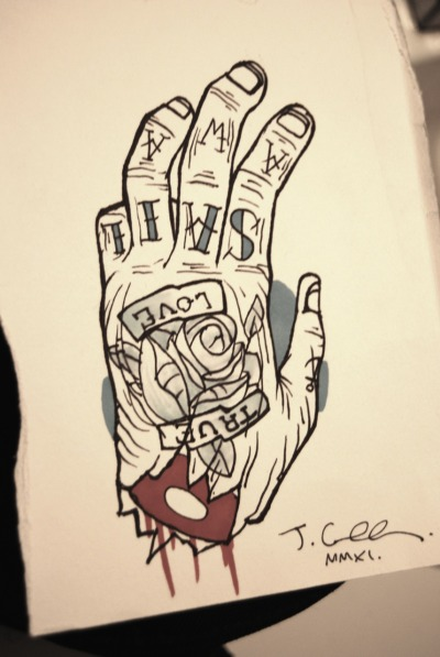 Tattooed Hand.
