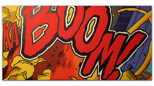 "designersof:  KA-BOOM! ACRYLIC ON CANVAS A 24"" X 48"" Painting"