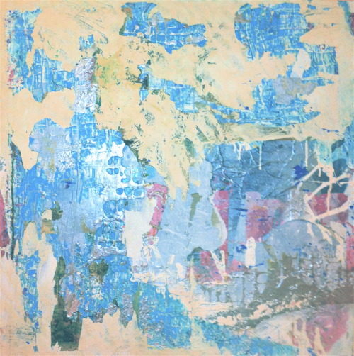 Kevin Regan Mullin  RKO-OKC mixed media on canvas, 36 x 36""