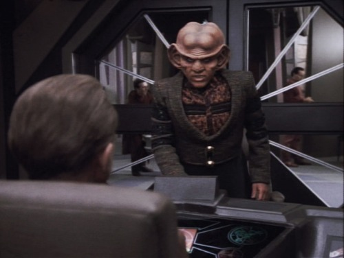Can I just talk about how much I love this. How Quark's first instinct, when he hears of the impending doom of the station, is to tell Odo how they've got to get out of here. Like he and Odo are going to elope together or something. Even though he knows Odo will rope him into risking his life, he can't just run and save his own skin and leave Odo to face the danger alone. Hells yeah I ship it.