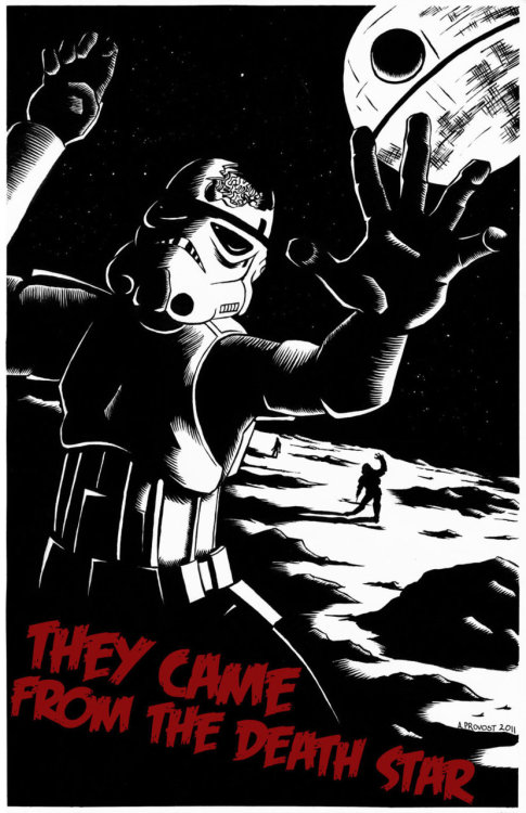 tiefighters:  They Came From The Death Star - by Aaron Provost DeviantART || Website (via:assorted-goodness)