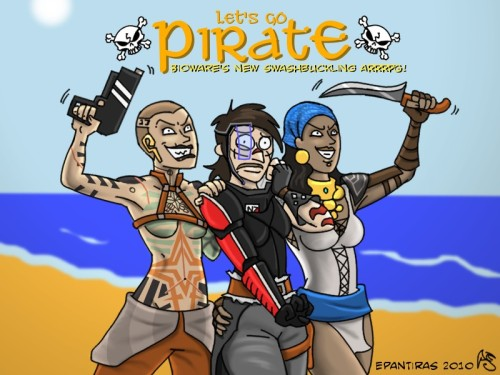destroythechantry:  by Epantiras (deviantArt) ARRR~ me hearties! <333 °A°