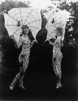 "Two of the lovely ""spiders"" in the St. Louis Fashion Pageant- July 28, 1925 in St. Louis, Missouri."
