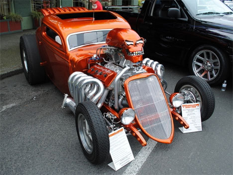 "PHOTO: Halloween inspired Tricked Out Hemi!  WOW!!  If you would like to trick out your ride to better reflect who you are and to stand apart from the crowd - we invite you to visit http://www.derrickdodge.com and click ""Custom Design"" under our ""specials"" tab.  Here you will find many examples of customized goodness from our highly creative and innovative Custom Design team.  Are you up for the challenge?  Contact 780-435-3618 for more info.  Derrick Dodge Custom Design - open six days a week for your shopping or information pleasure!Thanks for visiting with us fans, and until next time - get out and drive!"