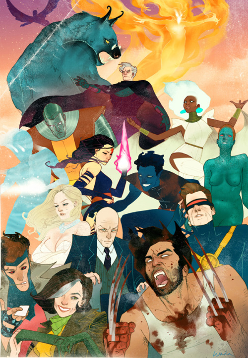 wtfxmen:  timetravelandrocketpoweredapes:  X-men by Kevin Wada Prints are still available for purchase! Click here for details.  Artist: DeviantART / Website (via: assorted-goodnes)  wow high levels of want