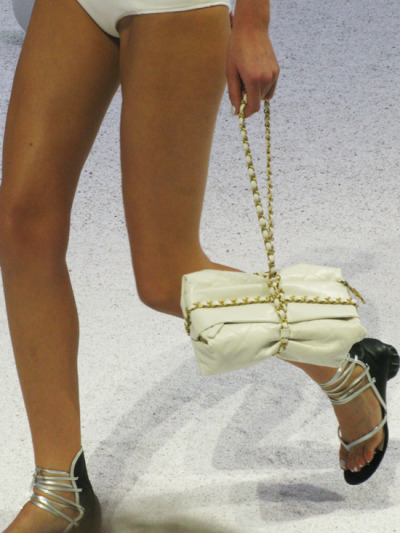 glamour:  A new bag, shoe and nail color to swoon over at Chanel, spring 2012