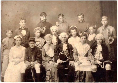 victoriasrustyknickers:  Group of people in Fancy Dress - Photo taken in Vermont in the 1890s