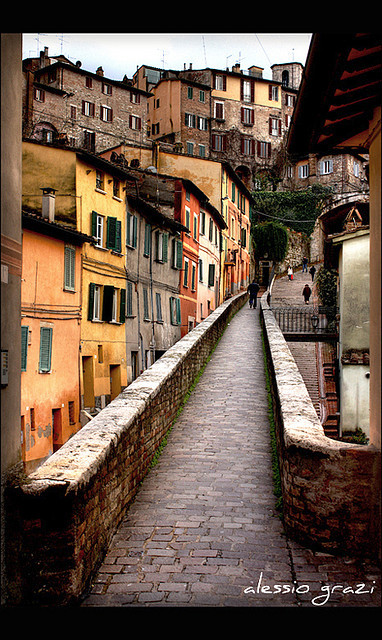 | ♕ |  Ancient path in Perugia  | by © alessio grazi | via ysvoice