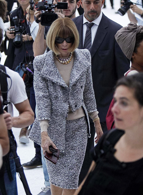 Anna Wintour at Chanel Spring/Summer 2012.