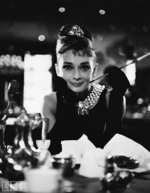 "Happy 50th Anniversary 'Breakfast at Tiffany's' <3 life:  Tomorrow marks the 50th anniversary of Breakfast at Tiffanys. While we are preparing for the anniversary of such an iconic film, take a look at photographs of Audrey at her Most Stunning.  To quote the actress, ""I'm not beautiful. My mother once called me an ugly duckling. But, listed separately, I have a few good features."""